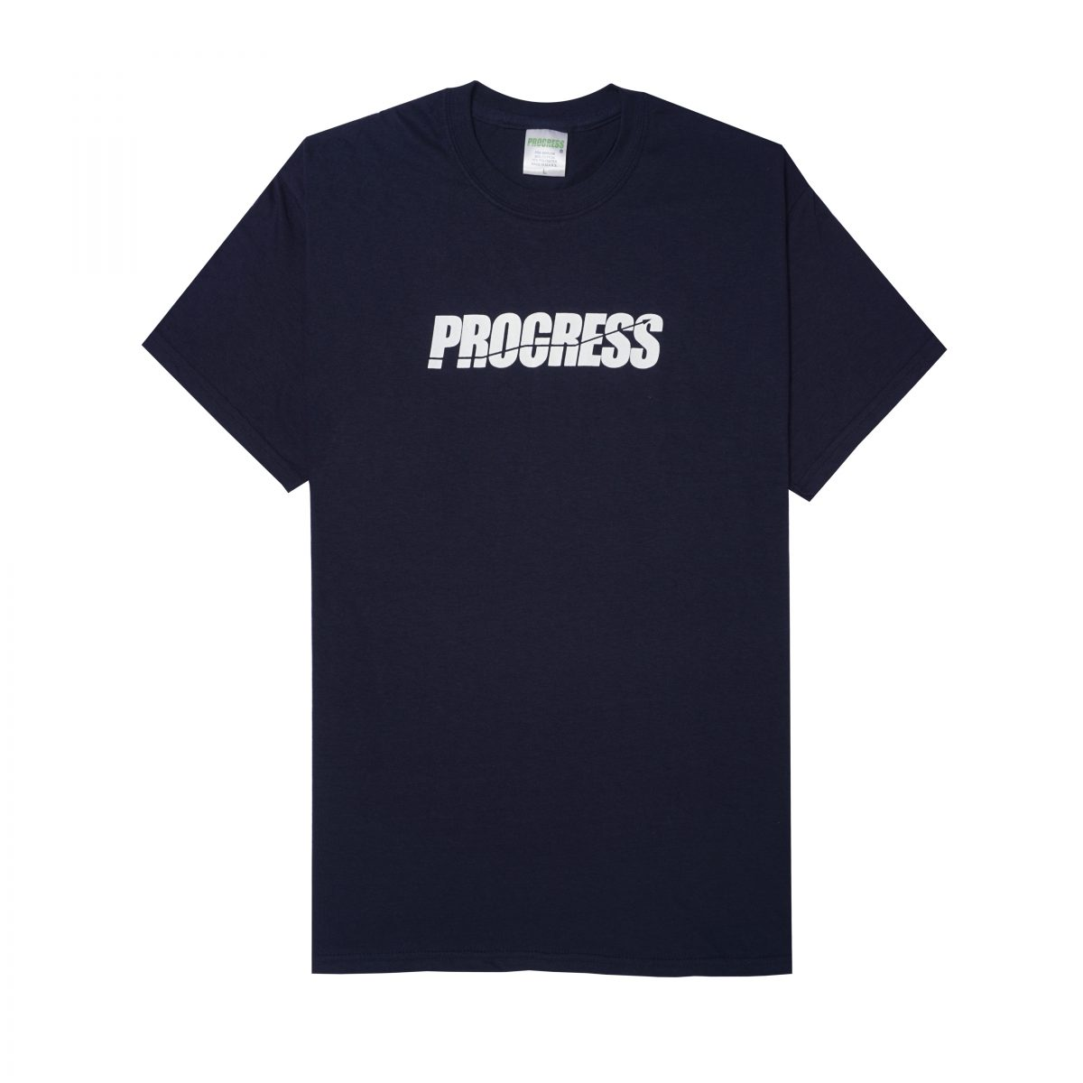 LOGO TEE WHITE ON NAVY BLUE