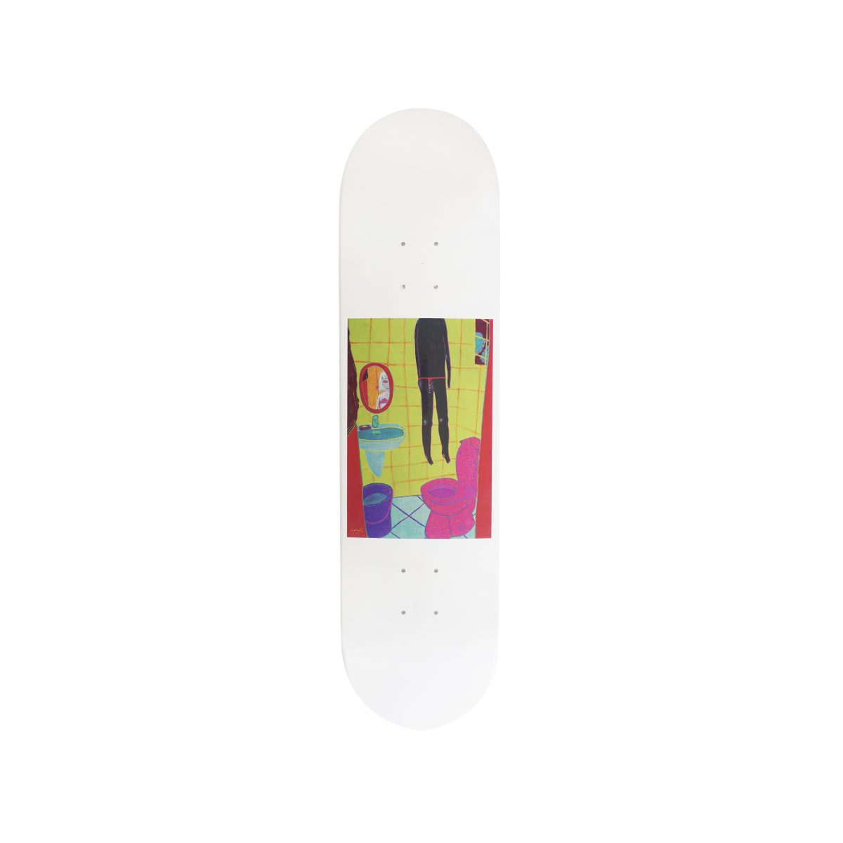 YEOKAA FOR PROGRESS® S/S 2018 SKATE DECK (WHITE)