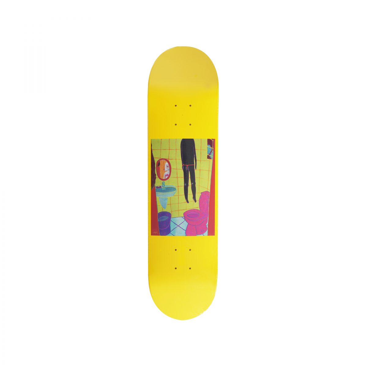 YEOKAA FOR PROGRESS® S/S 2018 SKATE DECK (YELLOW)