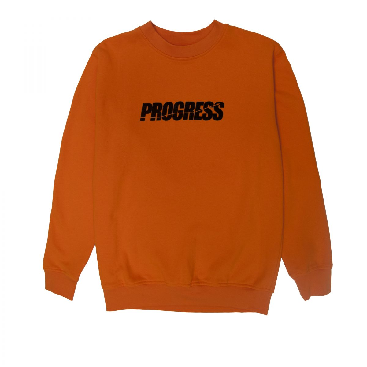 LOGO FELT ORANGE SWEATER